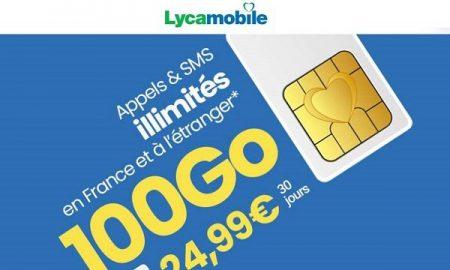 Forfait Mobile Lyca XL 100 go