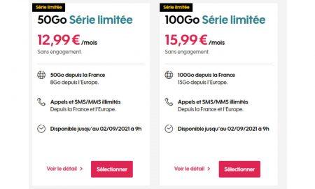 Forfait mobile Sosh : 50 Go à 12,99 €